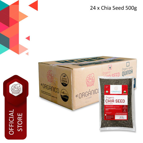 Foto Produk Chia Seed Organic El Organico 500gr (Carton Box) dari ELorganico