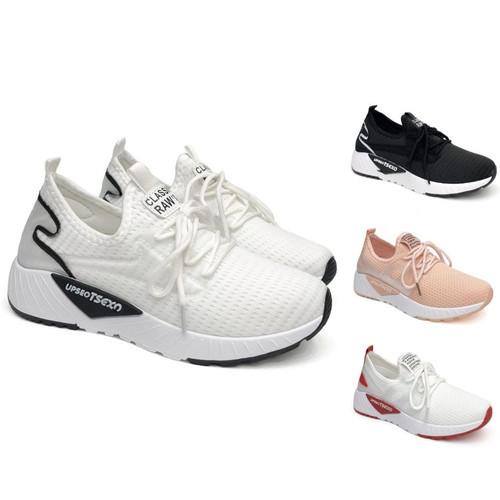 Foto Produk PVN Sepatu Sneakers Wanita Sport Shoes 008 - white black, 38 dari PVN Official Store