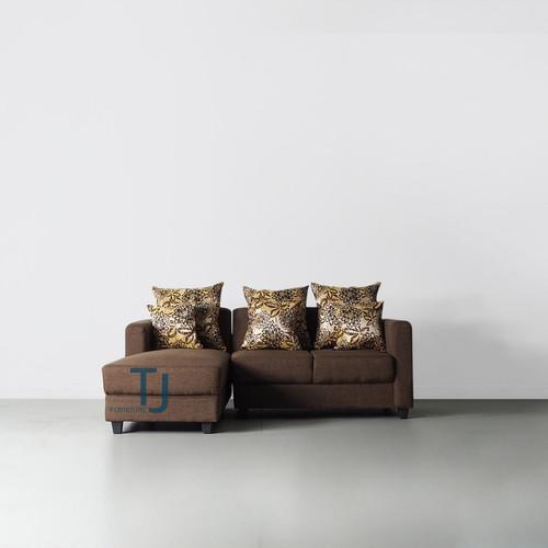 Jual Sofa L Putus Java Dark Brown, Dark Brown Furniture