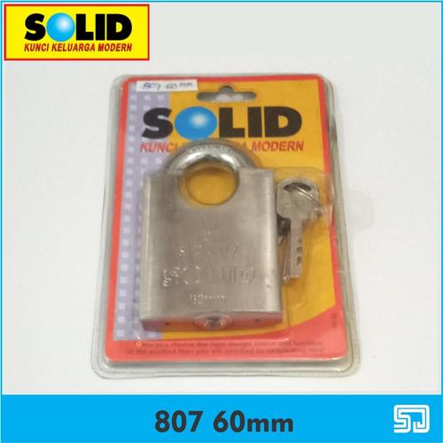 Foto Produk Solid 807 60 mm Padlock Top Security Gembok Tebal Kunci Padlock dari Sadar Jaya Mandiri