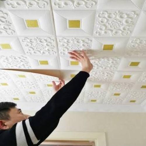 Foto Produk Promo Wallpaper dinding Murah Walpaper Foam 3D Batik Gold - Silver/Perak dari Providensifit Shop