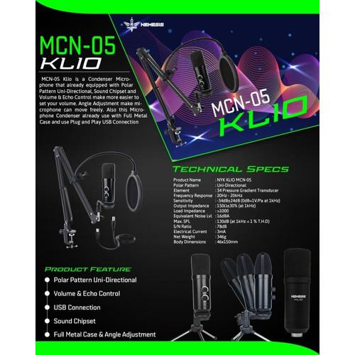 Foto Produk NYK Nemesis MCN-05 Klio Mic Condenser USB dari Universal disc