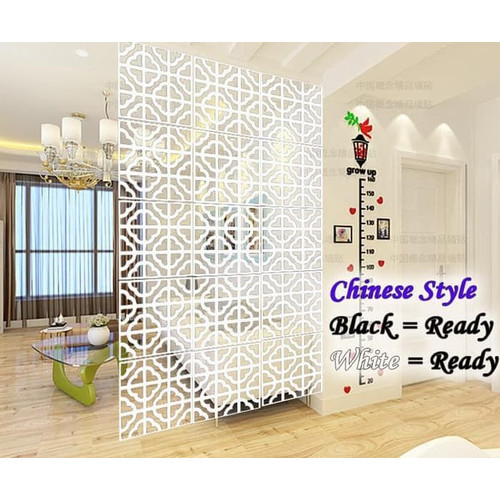 Foto Produk VINTAGE 3D CHINESE STYLE TIRAI GANTUNG / PARTISI PENYEKAT RUANGAN - Putih dari methwallsticker