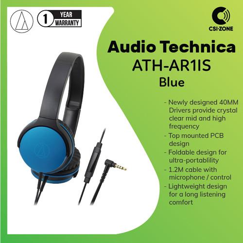 Foto Produk Audio Technica ATH-AR1IS Portable On Ear Headphone - Blue dari csi-zone