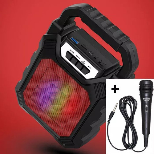 Foto Produk 668 Portable SPEAKER BLUETOOTH - Merah dari zekate