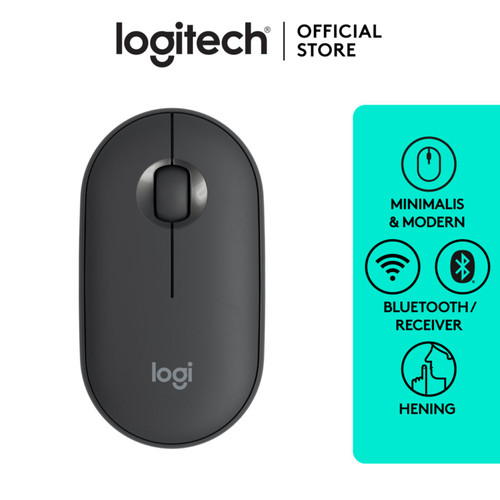 Foto Produk Logitech Pebble Wireless Bluetooth Mouse M350 - Graphite dari Logitech Official Store