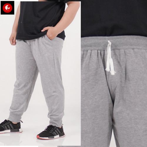 Foto Produk Okechuku Celana Joger Big Size Jumbo Jogger Pants fit to 4XL - Evan - Abu-abu Muda dari Okechuku