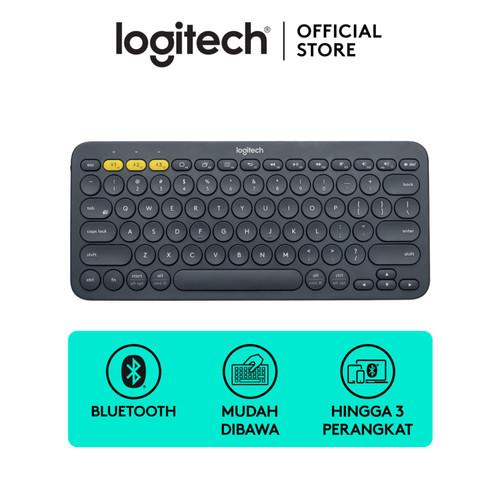Foto Produk Logitech K380 Bluetooth Keyboard Black For Windows, Mac, Android, iPad dari Logitech Official Store