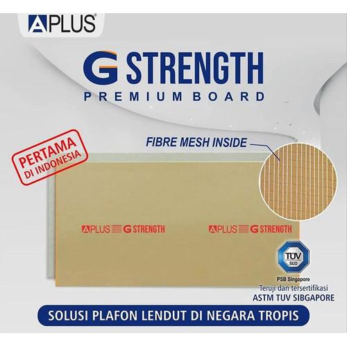 Foto Produk Gypsum Aplus G-Strength 9mm x 1200 x 2400 premium board atap plafon dari Depo Aplus Bandung