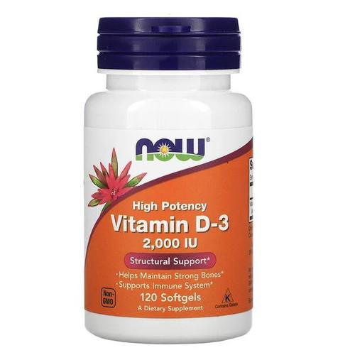 Foto Produk Now Foods D-3 - Vitamin D3 Food untuk Tulang Kuat 1000 2000 10000 IU - IU2000 120gels dari Made Good Market