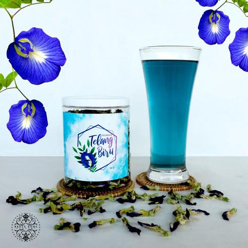 Foto Produk Bunga Telang Biru Kering 30 Gram dari RESTU BUMI PERTIWI