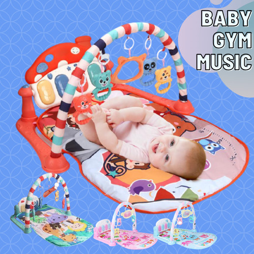 Foto Produk Baby Gym Musical Set Musik Bayi Playgym Play Music Matras Mainan Piano - RED JUNGLE dari cabokimurah