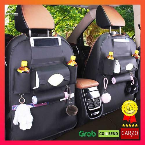 Foto Produk Carzo Smart Seat Car Seat Organizer Tas Belakang Jok Mobil Multifungsi - Coklat Muda, Tanpa Meja dari Wakata Living