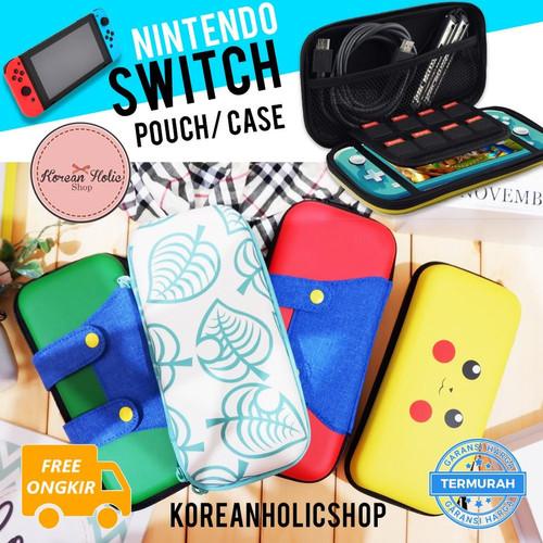 Foto Produk READY Nintendo Switch / Switch lite case / pouch / card holder - Pikachu, Switch Lite dari Koreanholicshop