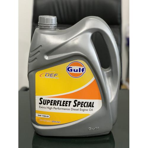Foto Produk Oli Gulf Superfleet Special 15W40 CI4 SM 5 Liter dari Lubricants Pelumasindo