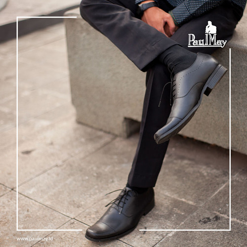 Foto Produk Paulmay Sepatu Formal Pria Venesia 23 - Hitam, 39 dari Paulmay