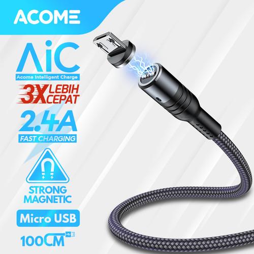 Foto Produk Acome Kabel Data Strong Magnet Fast Charging 2.4 A 100cm Garansi 1 Thn - Kabel Micro USB dari Acome Indonesia