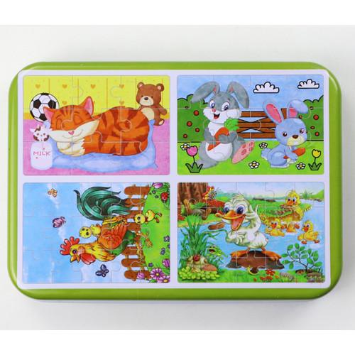 Foto Produk TweedyToys - Jigsaw Puzzle / Puzzle Kayu 4 In 1 - AYAM dari Jaya Multi Kreasi