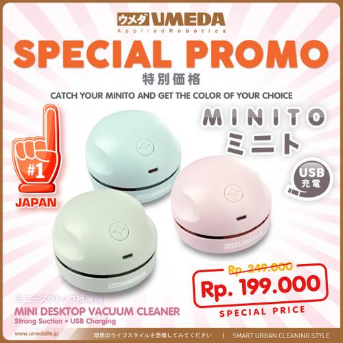 Foto Produk Umeda Minito USB charging Mini Lightweight Vacuum Cleaner - Hijau dari UMEDA