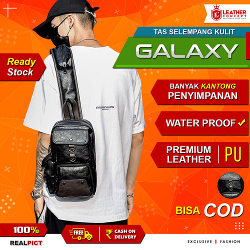 Foto Produk Tas Pria - Tas Selempang Pria - Sling Bag Pria (GALAXY) dari Leather Concept