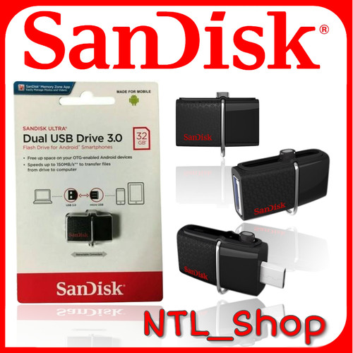Foto Produk SANDISK FD OTG 32GB USB 3.0 DD2 DUAL DRIVE USB dari Ntl_shop