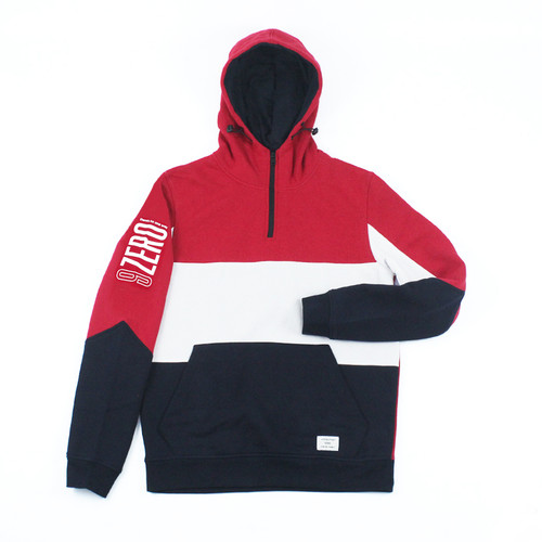 Foto Produk Jack & Jones Core Sean Half Zip Hoodie Red dari Sangkilco