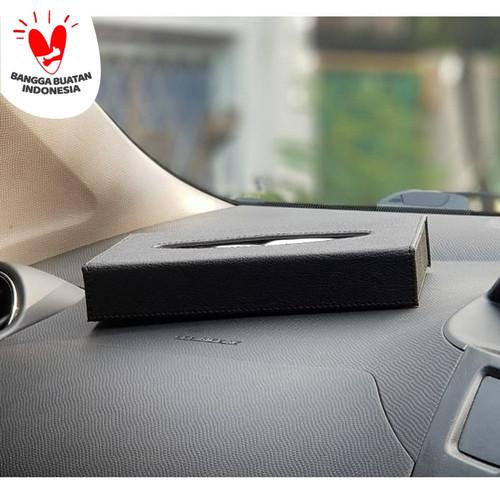 Foto Produk TECHNOZIO Kotak Tissue Short Hitam Cubic /tempat tissue /tisu mobil dari Technozio