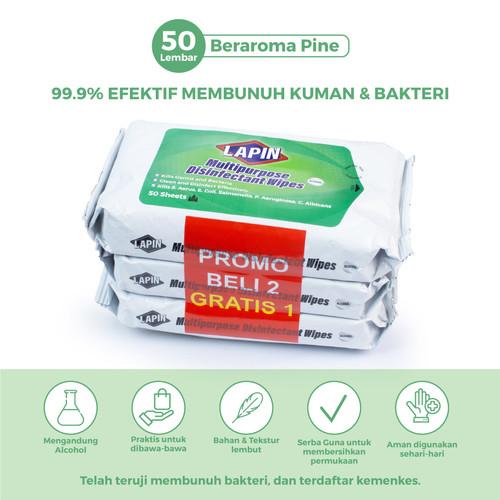Foto Produk BUY2 GET1 Lapin Tisu Basah Multipurpose Disinfectant Pine 50s dari Lapin Official