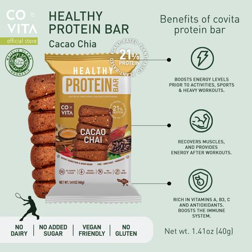 Foto Produk Covita Healthy Protein Bar - Cacao Chai - Camilan Sehat dari Covita