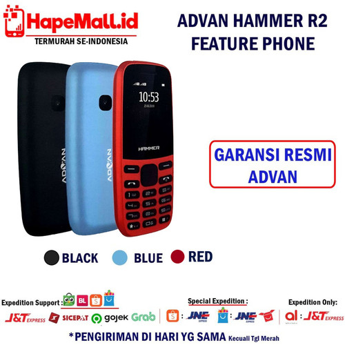 Foto Produk ADVAN HAMMER R2 FEATURE PHONE GARANSI RESMI ADVAN INDONESIA TERMURAH - Biru dari Hapemall.id