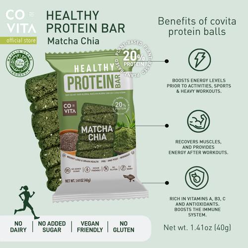 Foto Produk Covita Healthy Protein Bar - Matcha Chia - Snack Sehat dari Covita