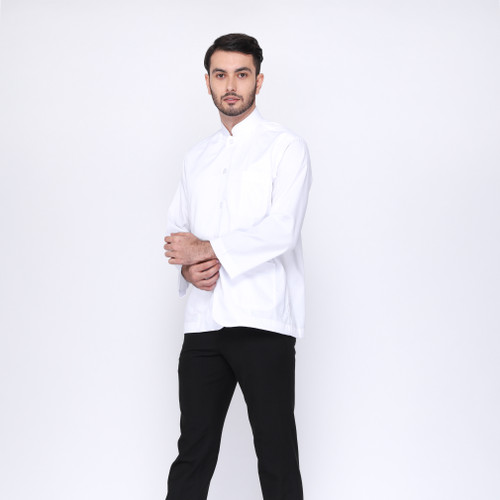 Foto Produk baju koko eksklusif RIZIQ putih semi jas - S dari RIZIQmoslemwear