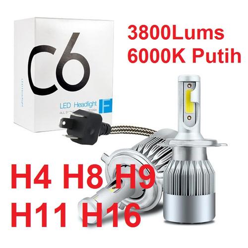 Foto Produk Lampu LED Mobil Headlight Lampu Utama Mobil C6 H4 H11 H8 H9 H16 36W - 1 PCS H11 H8 H9 dari MT Elektronik