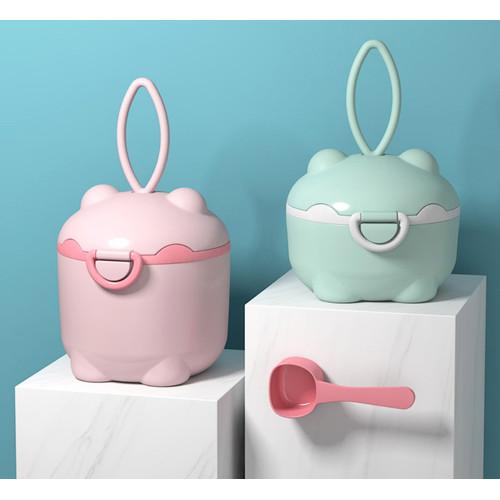 Foto Produk Tempat susu bubuk kartun anak, Kontainer susu snack bayi - Hijau muda, Kecil dari Lovely Gubuk