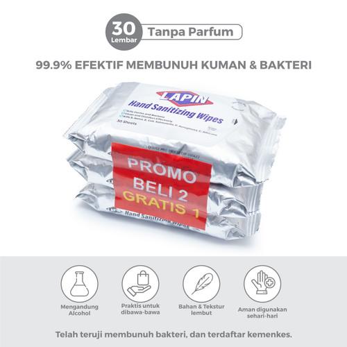 Foto Produk BUY2 GET1 Lapin Tisu Basah Alcohol Hand Sanitizing Tanpa Parfum 30s dari Lapin Official
