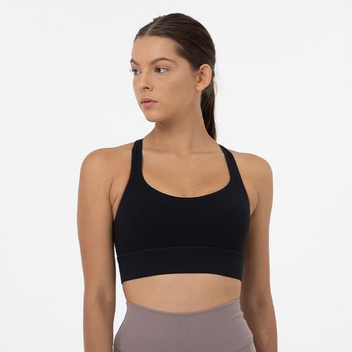 Foto Produk miniletics Sports Bra Alleviate Bra, with A/B bra cup - Black, S dari miniletics