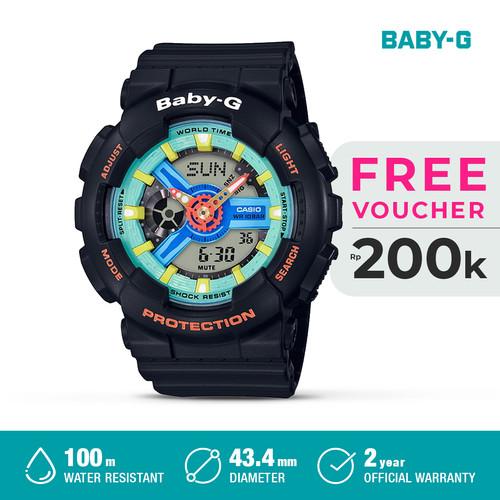 Foto Produk Casio Baby-G Jam Tangan Digital Analog Wanita BA-110NR-1ADR Black Ori dari Casio Official Store
