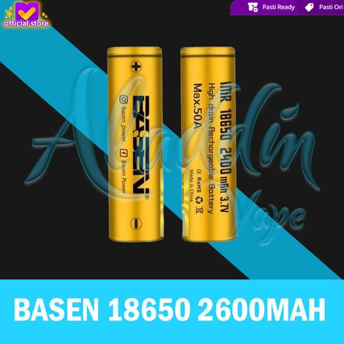 Foto Produk Authentic Battery Baterai 18650 BASEN 2600mAh 40A ORIGINAL for Vapor dari Aladdin Vape