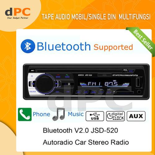 Foto Produk Single Din Audio Tape Mobil LCD Multifungsi Bluetooth USB MP3 FM Radio dari dPC