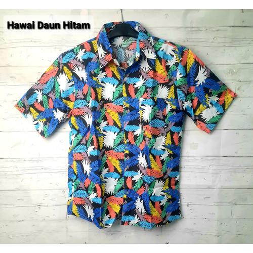 Foto Produk FortKlass HAWAI MIX 2 Kemeja Hawai Bali Pria Motif Kemeja Pantai Cowok - Daun P hitam dari FortKlass