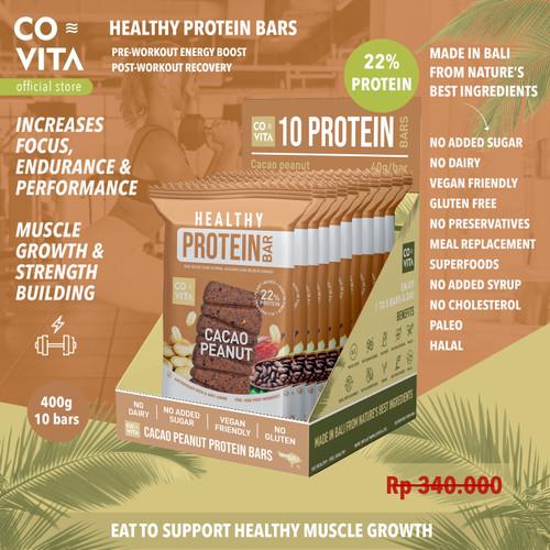 Foto Produk Covita Healthy Protein Bars Box - Cacao Peanut (10pcs) dari Covita