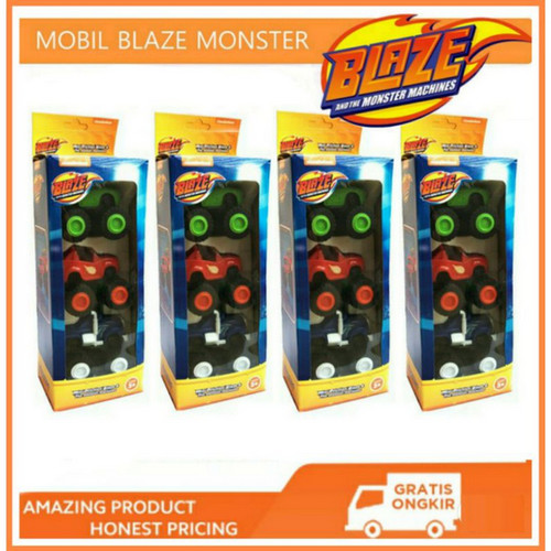 Foto Produk Blaze And The Monster Machines Isi 3 Pull Back Car Mainan Mobil Anak dari My Own Flashcards