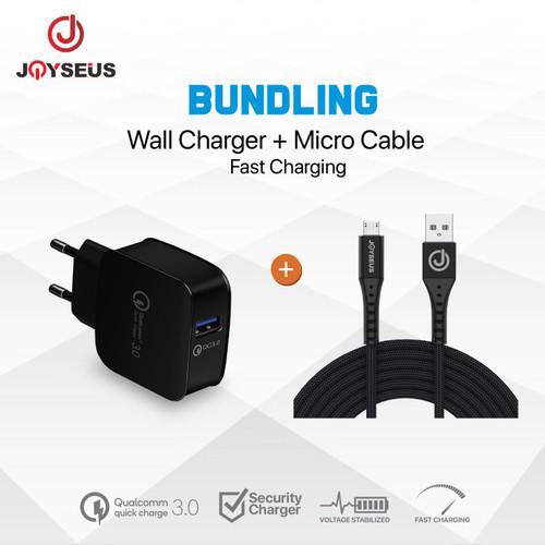 Foto Produk Charger JOYSEUS QC3.0 Quick Charging + MICRO USB Cable 3A - CL8KB41 dari Joyseus Official Store