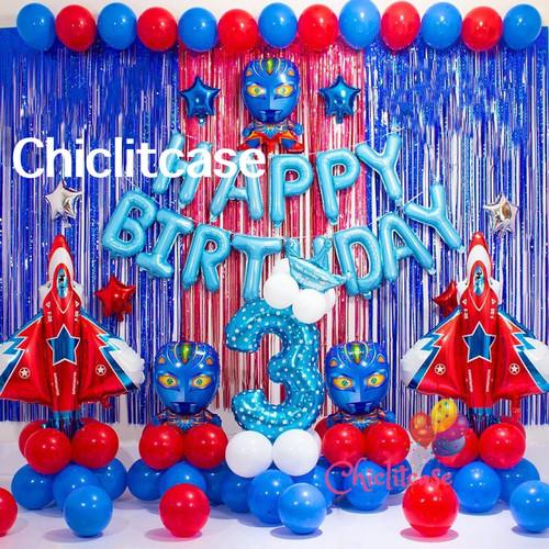 Foto Produk Set paket balon ultraman hdb birthday ulang tahun superhero dekorasi - umur 9 dari chic lit case