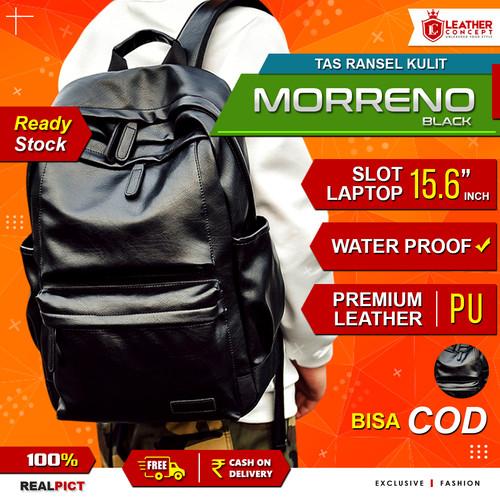 Foto Produk Ransel Kulit Pria MORRENO (Black) dari Leather Concept