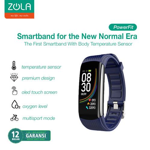 Foto Produk Zola PowerFit Smartband Colour Display With Body Temperature Sensor - Biru dari Zola Indonesia