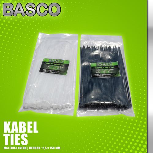 Foto Produk KABEL TIES 15 CM (2,5 X 150 MM)-BASCO dari Vegaz-Tools