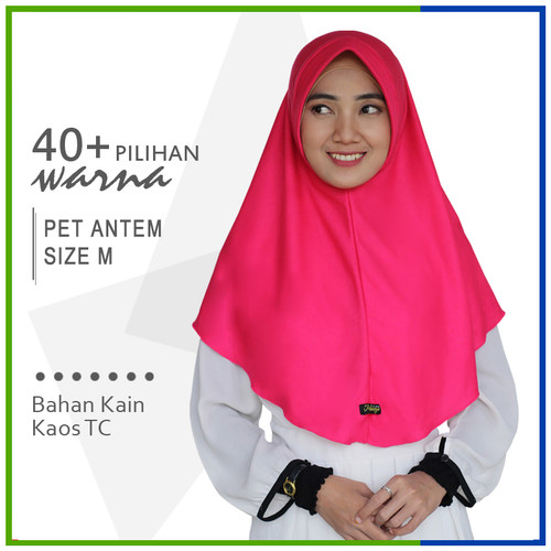 Foto Produk Jilbab Instan Pet Antem M / Hijab Kaos Bergo Anthem Size M dari Jilbab Mazoya