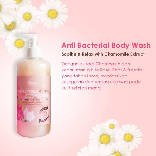 Foto Produk Mireya Antibacterial Body Wash Sabun Mandi Cair 500ml Free Shower Puff - Chammomile dari Mireya Cosmetics