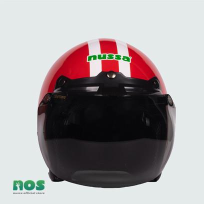 Foto Produk Nussa - X Marzano Arzo Helm Stripe Junior (7tahun Keatas) - Merah - Merah dari Nussa Official